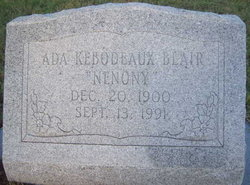 "Ada ""Nenony"" <I>Kebodeaux</I> Blair"