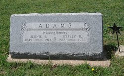 "Matilda Jane ""Jennie"" <I>Sturdevant</I> Adams"