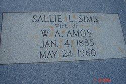 Sallie L <I>Sims</I> Amos