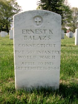 PVT Ernest K Balazs