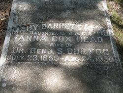 Mary Barrett <I>Head</I> Burton