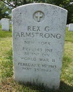 Pvt Rex G Armstrong