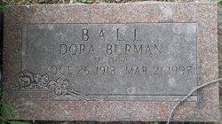 Dora <I>Burman</I> Ball