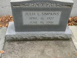 Julia L Simpkins