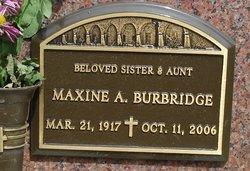 Maxine A Burbridge