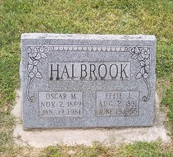 Effie Jane <I>Crocker</I> Halbrook