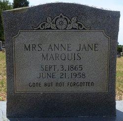 Mrs Anne Jane <I>Vick</I> Marquis
