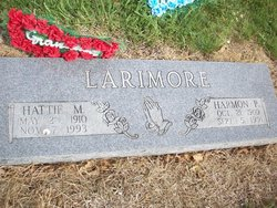Hattie May <I>Poole</I> Larimore