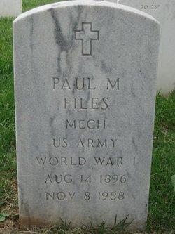 Paul M Files