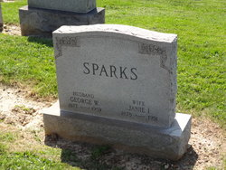 "Jane I ""Janie"" <I>Miles</I> Sparks"