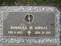 Barbara H. <I>Burwell</I> Aspaas