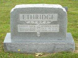 "Margaret J ""Mamma Mag"" <I>Simmons</I> Ethridge"