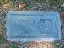 Mrs Emma A <I>Waller</I> Winders