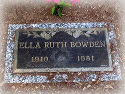 Ella Ruth Bowden