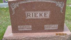 Martha Emma <I>Beger</I> Rieke