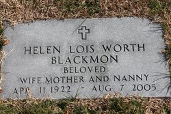 Helen <I>Worth</I> Blackmon