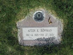 Afton Lorene <I>Kunz</I> Bowman