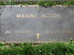 """Leona """"Maxine"""" <I>Whitelaw</I> Acton"""