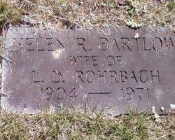 Helen <I>Bartlow</I> Rohrbach