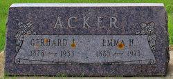 "Gerhard J ""Garrett"" Acker"