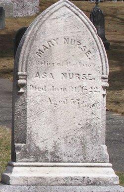 """Mary """"Polly"""" <I>Glover</I> Nurse"""