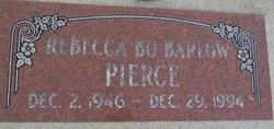 Rebecca Bo <I>Barlow</I> Pierce