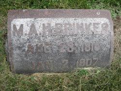 Mary Ann Hite <I>Bowman</I> Brinker