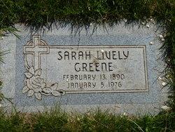 Sarah Joannah <I>Lively</I> Greene