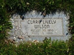 Clara <I>Lively</I> Wilson