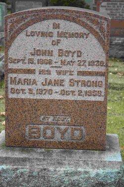 Maria Jane <I>Strong</I> Boyd