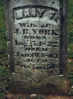 Mary Frances <I>Lewis</I> York