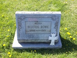 Bertha <I>Webb</I> Rowe
