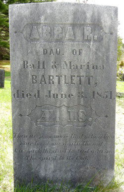 "Abigail R ""Abba"" Bartlett"