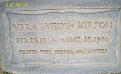 "Elvera Evelyn ""Vera"" <I>Peterson</I> Burton"