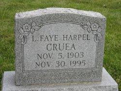 Leona Faye <I>Harpel</I> Cruea