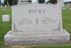 Olive <I>Spensley</I> Hicks