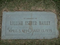Lillian Esther <I>Shakespeare</I> Bailey