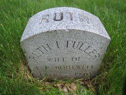 Ruth I. <I>Fuller</I> Boutwell