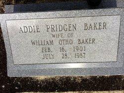 Addie Blanche <I>Pridgen</I> Baker