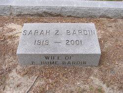 Sarah Jeannette <I>Ziegler</I> Bardin