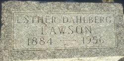 Esther <I>Dahlberg</I> Lawson