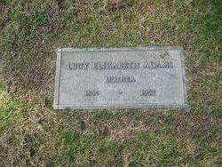 Lucy Elizabeth <I>Condley</I> Adams