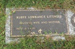 Rubye Onita <I>Lowrance</I> Littrell