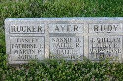 Hallie H. <I>Rucker</I> Ayer