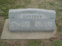 Violet E. <I>Sanders</I> Hanshaw
