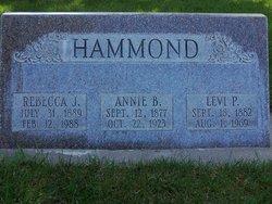 Annie Elizabeth <I>Baer</I> Hammond