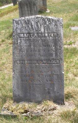 Mary A. <I>Sawyer</I> Wilder