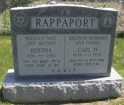 Bertha <I>Rockoff</I> Rappaport
