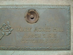 Mary Agnes <I>Patton</I> Hill