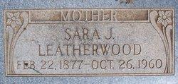 """Sara Josephine """"Josie"""" <I>Richardson</I> Leatherwood"""